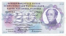 Switzerland - Pick 46 - 20 Franken - Francs 1973 - VF - Svizzera