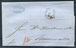 1868 Hamburg K.D.O.P.A. Entire - Helsingborg Uddevalla Sweden - Hamburg