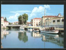 Cartolina Cervignano Del Friuli, Barche Sull'Ausa - Autres Villes