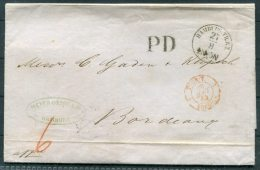 1864 Hamburg Entire - Bordeaux Via Paris - Hamburg