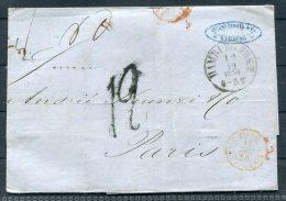 1856 Hamburg Entire -  Paris - Hamburg