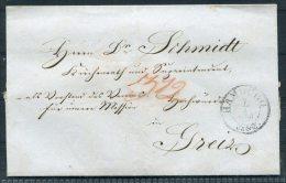 1850 Hamburg Vorphila Wrapper -  Greiz Thuringia - Germany