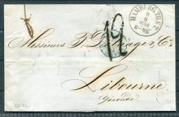 1856 Hamburg Wrapper - Gironde France Via Paris A Bordeaux Railway - Hamburg