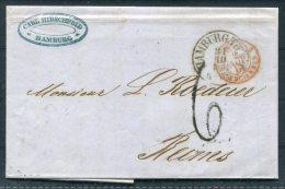 1861 Hamburg Entire - Reims Via Paris / Paris A Sedan Railway - Hamburg