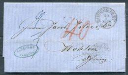 1862 Hamburg Entire - Wohlen Switzerland Via Frankfurt / Aarau - Hamburg