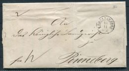 1868 Hamburg K.D.O.P.A. Entire - Pinneberg, Schleswig Holstein - Hamburg