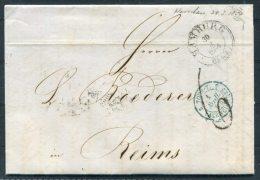 1854 Hamburg Entire -  Reims Via Paris - Hamburg