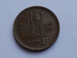 Pakistan  1 Rupee  1998   Km# 62      M.ALI JINNAH// Mosquée De Lahore - Pakistan