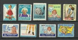 USA 1952 - 1950 Sister Kennedy Foundation Charite Wohlfahrt * - Erinnophilie