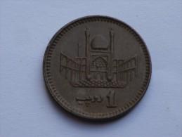 PAKISTAN  1 RUPEE  1999    KM 62      M.ALI JINNAH// MOSQUEE DE LAHORE - Pakistan