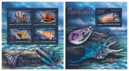 CENTRAL AFRICA 2013 - Sea Shells - YT 2946-9 + BF597; CV = 32 € - Schelpen