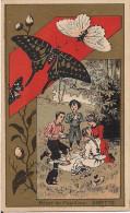 CHROMO CHAUSSURE H. DUFLO RUE DE PASSY A PARIS REVER DE PAPILLON DINETTE - Trade Cards