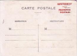 GUERRE 39-45 - ENTIER 1F20 - RAPATRIEMENT - FRANCHISE POSTALE - COTE 25€. - Guerre De 1939-45