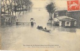 La Crue De La Seine (Janvier-Février 1910) - Porte D'Ivry, à La Barrière De L'Octroi - Carte J.H. - Inondations
