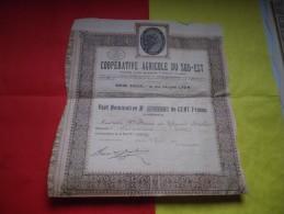 COOPERATIVE AGRICOLE DU SUD EST (1921) LYON - Shareholdings