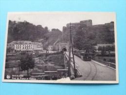 Pont De France Et Château ( Stoomtram / Hotel De France ) Anno 193? ( Zie Foto Voor Details ) !! - Bouillon