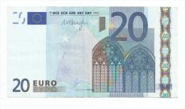 EURONOTES BANCONOTA BILLET DA 20 EURO F MALTA R030.. 57035 DRAGHI - EURO