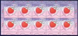 2459/ Slowenien Slovenia 2003 Mi.No. 419 ** MNH MS Grußmarke Love Girl And Boy On Heart Shaped Balloon Mädchen Und Junge - Slovenia