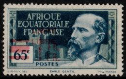~~~ Afrique Equatorial Francais  1940 -  SURCHARGE DOUBLE -  Yv. 150 (*) Sans Gomme  ~~~ - A.E.F. (1936-1958)