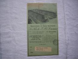 Carte Pub Manufacture De Tissus élastiques Dumas Fils St Etienne Loire 1929 - Reclame