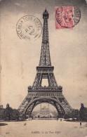 Thématiques 75 Paris Tour Eiffel Cachet Sommet De La Tour Eiffel Juin 1907 Timbrée - Tour Eiffel