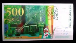 Billet 500 F Pierre Et Marie Curie 1994 Neuf - 1992-2000 Dernière Gamme