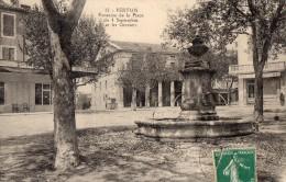 511Cc  84 Pertuis Fontaine De La Place Du 4 Septembre Et Les Greniers La Belle Jardiniere - Pertuis