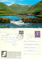Bundorragha River, Delphi, Mayo, Ireland John Hinde postcard posted 1967 stamp