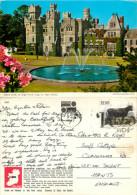 Ashford Castle, Cong, Mayo, Ireland John Hinde postcard posted 1987 stamp