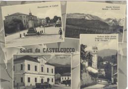 Saluti CASTELCUCCO - ASOLO - TREVISO ANNI 50 ED. Foscarini - Treviso