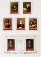 TABLEAUX DE REBRANDT AU MUSEE DE L'ERMITAGE 1983 - NEUFS ** - YT 4984/88 + BL 161 - MI 5259/63 + BL 163 - 1923-1991 USSR