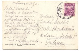 1929 Podkarpatska Rus. - Volovec To Poland - Storia Postale