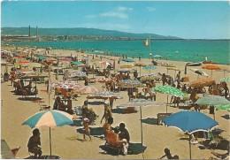 O76 Catania - Panorama della spiaggia - Beach plage strand playa / viaggiata 1981