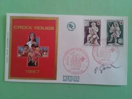 FRANCE 1967- N°1540-1541 - PREMIER JOUR FDC - Croix Rouge - Signé Par Le Graveur Pierre GANDON - FDC