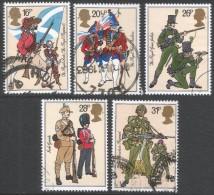 Great Britain. 1983 British Army Uniforms. Used Complete Set. SG 1218-1222 - 1952-.... (Elizabeth II)