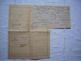 Licence équipement Véhicule Automobile Au Gazogène Mars 1945 Paris - Vieux Papiers