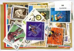 Lot 100 Timbres Thème Cyclismes - Vrac (max 999 Timbres)