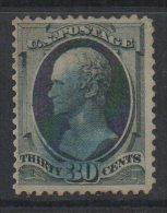 M533-UNITED STATES/USA- 1870-1871-  SC#: 143. USED- 30 CTS. ALEXANDER  HAMILTON- CAT. VALUE : US$ 4000.00 - Usados