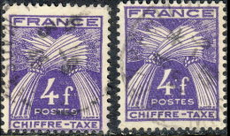 France Taxe 1943. ~ T 74 Par 2 - 4 F. Gerbes - Taxes
