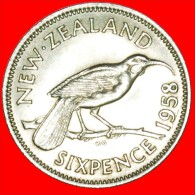 ★DRESSED QUEEN: NEW ZEALAND ★ 6 PENCE 1958! NICELY TONED! LOW START ★ NO RESERVE! - Nouvelle-Zélande