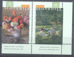 1996 Slovenia Slowenien Slovenie MNH ** Art Painting Gemälde; Ivana Kobilica; Impressionisme Flora Dahlie; Children On - Carnival