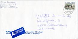 Mi 879 Solo Cover Mailman Postman Horse - 25 June 1999 Stokkseyri To Denmark - 1944-... Republique