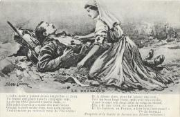 Illustration Pierre Comba - Le Brassard - Poème - Edition Société De Secours Aux Blessés - Carte Non Circulée - Patriottisch