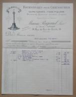 Facture , Lettre - Fournitures Pour Chaussures  Cuirs Tannés Tiges Piquées - Maurice Rigaud Louis Amiot - Paris 1919 - France