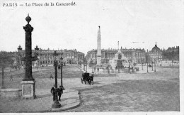 CPA PARIS - LA PLACE DE LA CONCORDE - Places, Squares