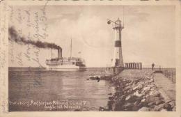 TRELLEBORG Angfärjan Konung Gustav V Avgär Till SÄSSNITZ, Gel.1921, 2 Marken - Schweden