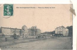 COULONGES SUR L'AUTIZE Place Du Champ De Foire TB Scotch - Coulonges-sur-l'Autize
