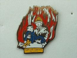 Pin´s SAPEURS POMPIERS - LENS - Feuerwehr