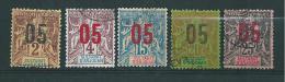 Colonie Timbres D´anjouan De 1912  N°20 A 24  Oblitérés - Anjouan (1892-1912)