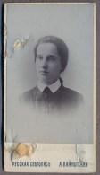 ODESSA Women Hat  About 1900y.  CDV  Carte De Visite MINIATURE 48 X 78 Mm.   B104 - Ancianas (antes De 1900)